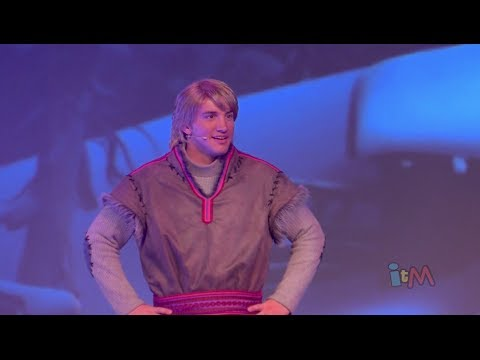 Kristoff talks in Frozen Summer Fun Live stage show at Walt Disney World