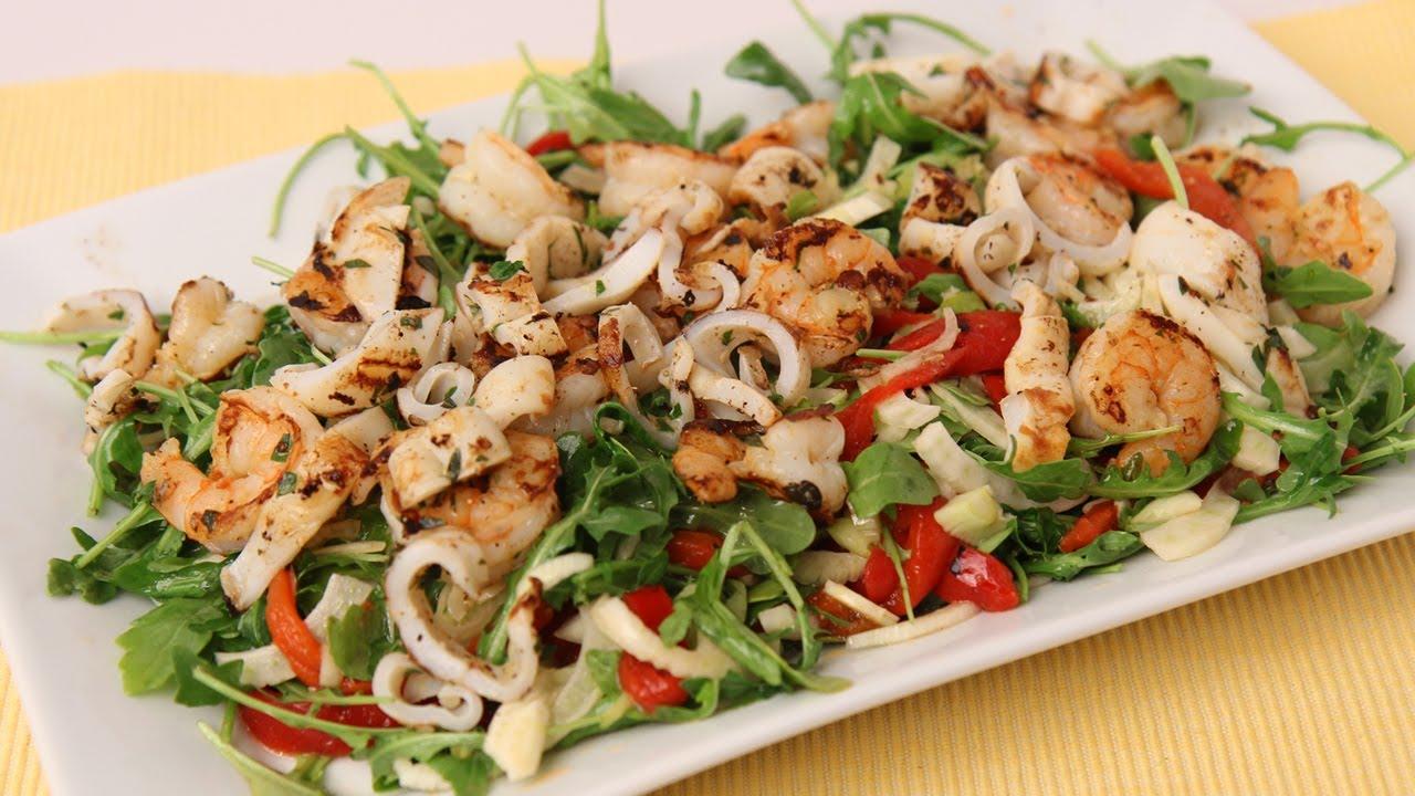 Grilled Shrimp & Calamari Salad Recipe - Laura Vitale - Laura in the ...