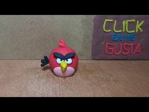 COMO HACER AL ANGRY BIRD ROJO EN PLASTILINA: Tutotial de plastilina 18.