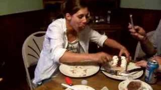 25yr Old Girl Stuffing Her Face With Cake