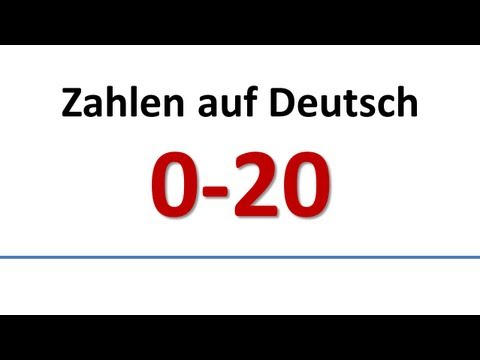Deutsch: Wortschatz - Zahlen 0-20 (deutsche Untertitel)/German: Vocabulary - Numbers (German subs)