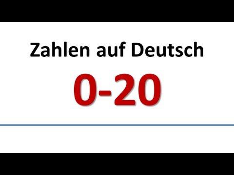 Deutsch: Wortschatz - Zahlen 0-20 (deutsche Untertitel)/German: Vocabulary - Numbers (German subs)