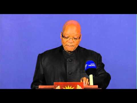 President Jacob Zuma announces the passing of Madiba