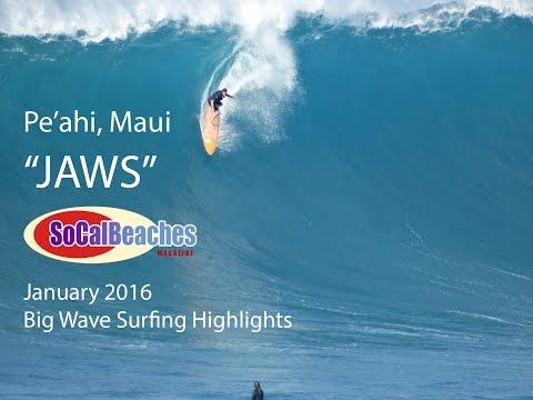 Awesome Big Wave Surfing ''JAWS'' Pe'ahi Maui