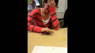 Girl beats guy pen tapping! !