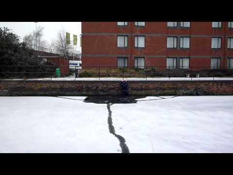 Frozen Canal Crossing Fail