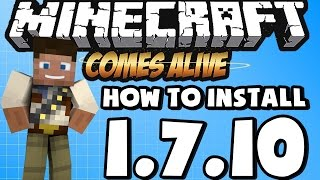 ★ How To Install MINECRAFT COMES ALIVE Mod For Minecraft