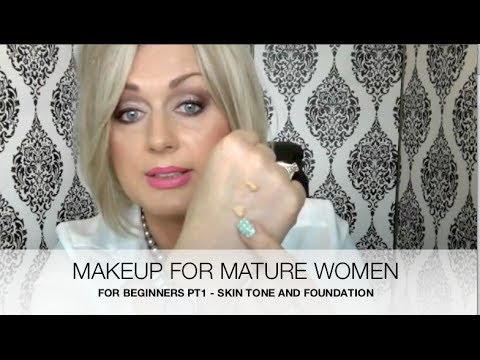 MATURE WOMEN MAKEUP FOR BEGINNERS Pt 1- SKIN TONE AND FOUNDATION