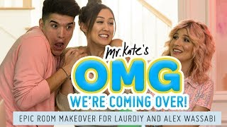 LaurDIY and Alex Wassabi's Epic Two-Tone Room Makeover!