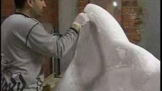 Creación de una escultura de mármol