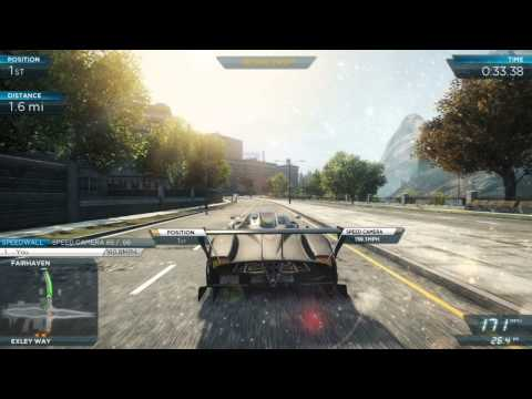 NFS Most Wanted 2012: All Pagani Zonda R events (Gold Medals) [Ultimate Speed Pack DLC]