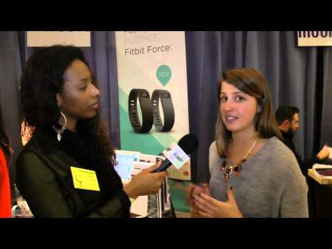 FitBit Force at Pepcom NYC Interview