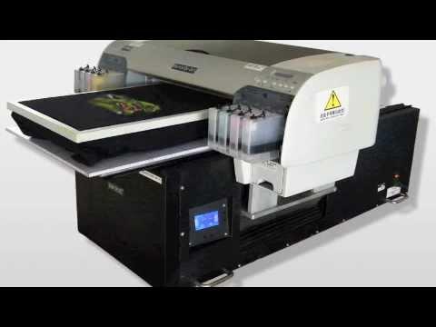 Digital flatbed t shirt printer direct to garment dtg for Direct print t shirt printer
