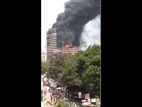 Fire break out in Textile market in Surat Gujarat part 3