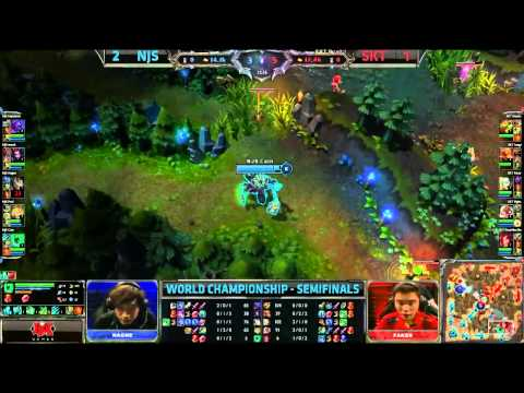 Worlds 2013 Semi - SK Telecom (SKT) vs Najin Black Sword (NJS) (4/5)- Season 3 League of legends