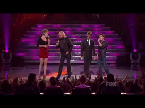 American Idol: Aaron Kelly & Siobhan Magnus with Bee Gees (FINALE)