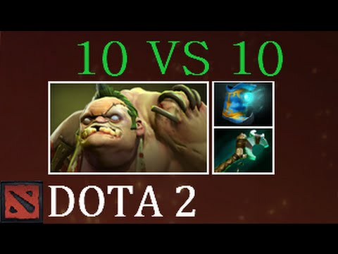Dota 2 10 vs 10 Pudge Gameplay Commentary