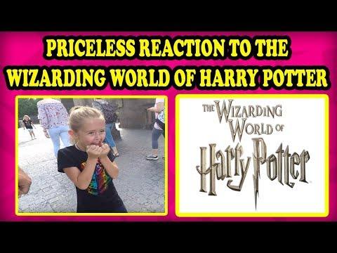 Kids first visit to Wizarding World of Harry Potter Hogwarts Castle Ollivanders Hogwarts Express