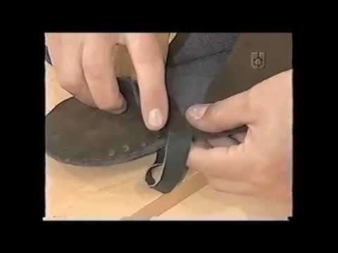 Puntos y Puntadas 452. Pantuflas para hombres en gamuza con costura florentina. Norma R.