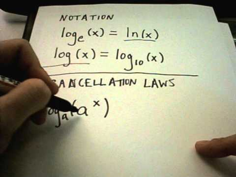 Properties of Logarithms - Logarithmic Functions -LwNpOWg78h4