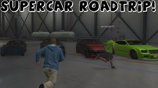 Grand Theft Auto 5 | Supercar Roadtrip to Mt Chiliad With Fails and Funny Moments