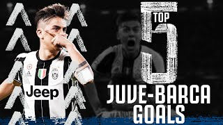 ⚽ Top 5 Juventus v Barcelona Goals! | Incredible Champions League Moments! | Juventus