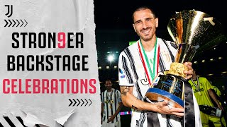 BACKSTAGE CELEBRATIONS | Behind-The-Scenes Of Juventus Title Win! | #STRON9ER
