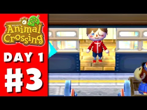 Animal Crossing: New Leaf - Part 3 - Friends Visit (Nintendo 3DS Gameplay Walkthrough Day 1)