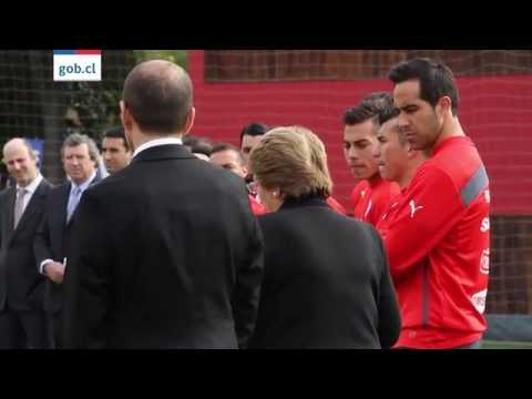Presidenta Michelle Bachelet despide a la Selección Chilena