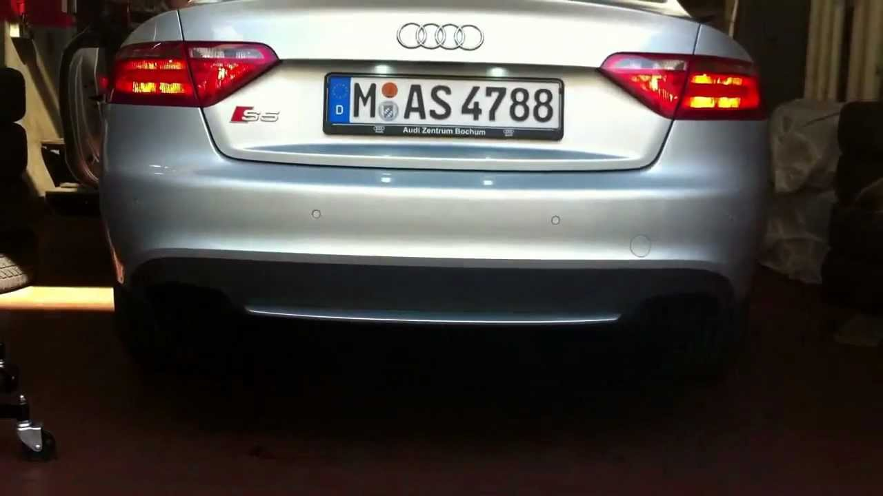 audi s5 ohne auspuff sound without exhaust youtube