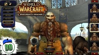Warlords Of Draenor Alpha NEW MODEL Character Creation