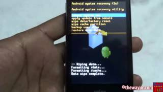 Factory Hard Reset / Formate Android In Recovery / Off