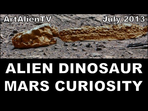 Alien Dinosaur Fossil: Mars Curiosity New Species July 2013: Soundisciples
