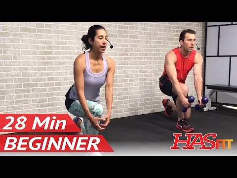 28 Min Beginner Workout Routine for Men & Women - Beginners Exercise at Home - Easy Workouts - HIIT