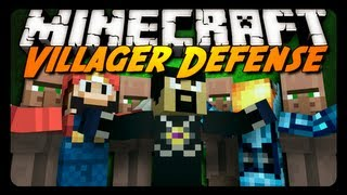 Minecraft Mini-Game: VILLAGER DEFENSE w/ AntVenom & Friends!