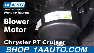How To Install Replace AC Heater Fan Blower Motor Chrysler
