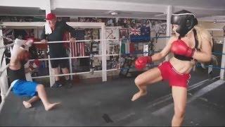 Shane Warne Knocked Flat By Female Kickboxer