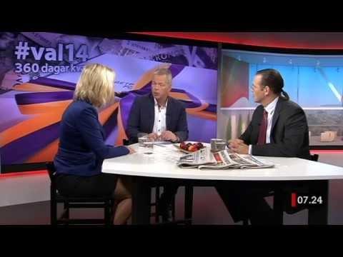 Anders Borg (M) och Magdalena Andersson (S) debatterar ekonomin i september 2013