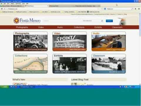 Florida Memory Webinar Series: Preparing for the 2013 14 Florida History Fair: September 9, 2013