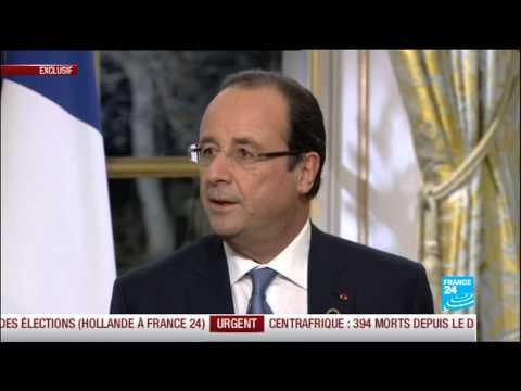 Revivez l'intégralité de l'interview de François Hollande à FRANCE 24, RFI et TV5 Monde