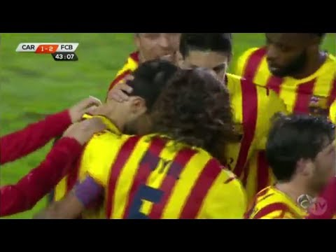 Cartagena vs Barcelona 1-4 - All Goals & Highlights (Fabregas, Pedro x2, Dongou) 6.12.2013