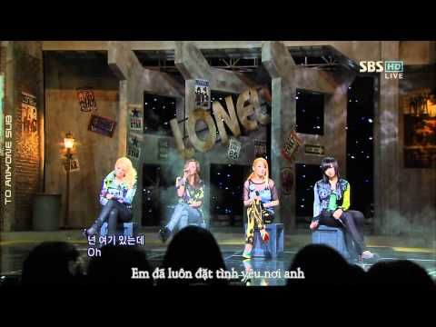 [To Anyone Sub][Vietsub] 2NE1 - Lonely (Live - SBS Inkigayo)
