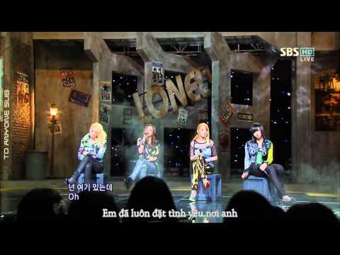 [To Anyone Sub][Vietsub] 2NE1 - Lonely (Live - SBS Inkigayo)