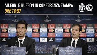 Conferenza stampa di Massimiliano Allegri e Gianluigi Buffon pre #JuveBVB