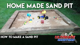How to make a large sand pit using railway sleepers