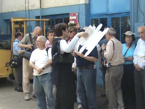 Americani în depoul de tramvaie de la Oradea