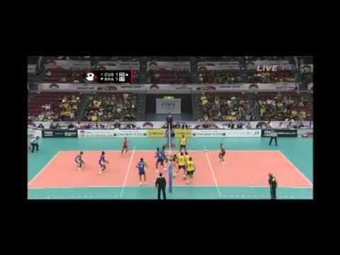 World Cup Volleyball 2011 #41 CUB3-2BRA Leon blocked GIBA