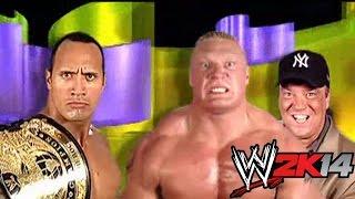 The Rock Vs. Brock Lesnar WWE 2K14 Relives SummerSlam