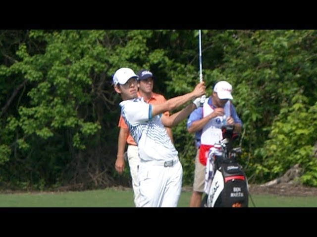 Seung-Yul Noh nearly holes out from fairway on No. 16 at Zurich