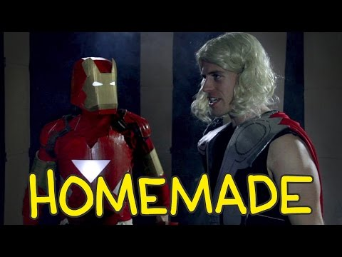 Iron Man, Thor & Captain America Fight from The Avengers - Homemade Shot for Shot